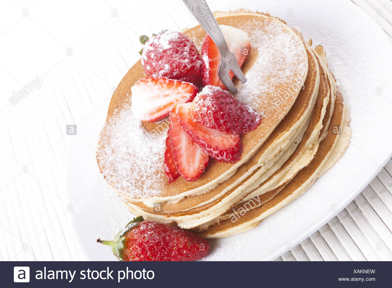 Straberry om Pancakes - Stock Image