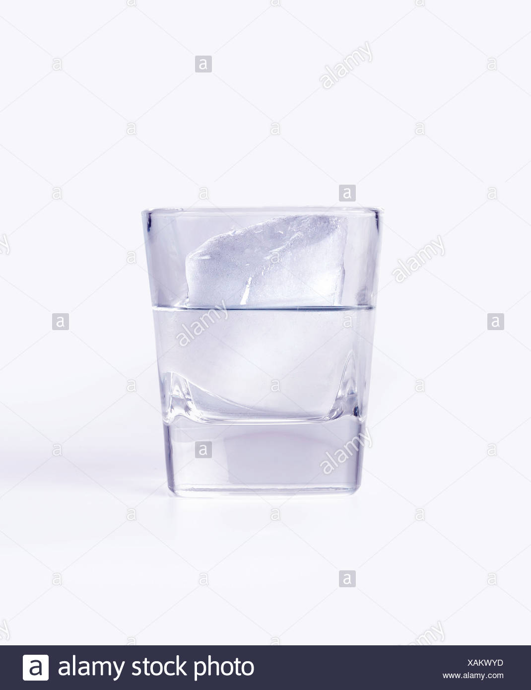 Ice - iceberg in a glass - Stock Image