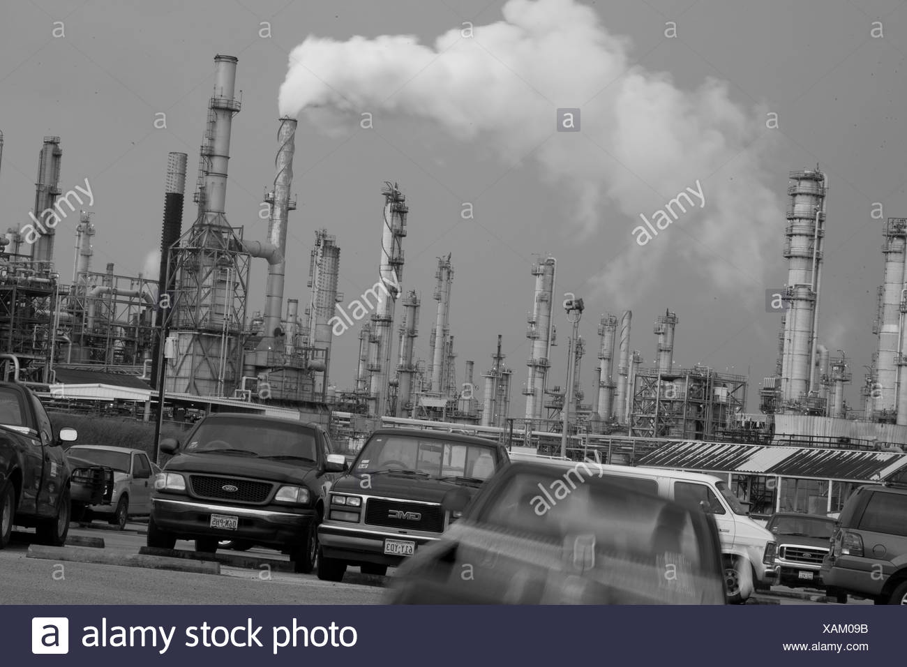 Oil refinery effects in Corpus Christi Texas. - Stock Image