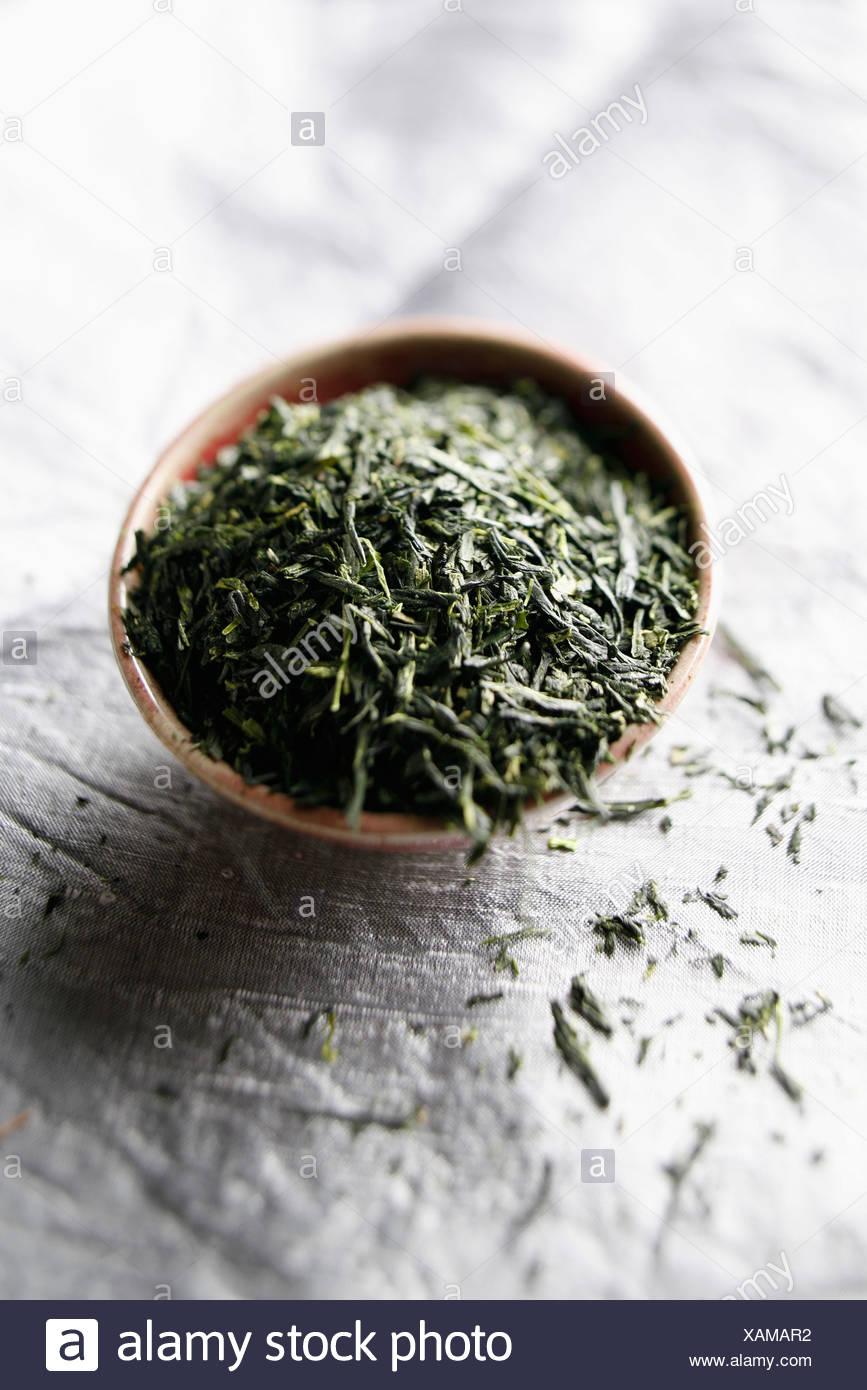 Loose green tea - Stock Image
