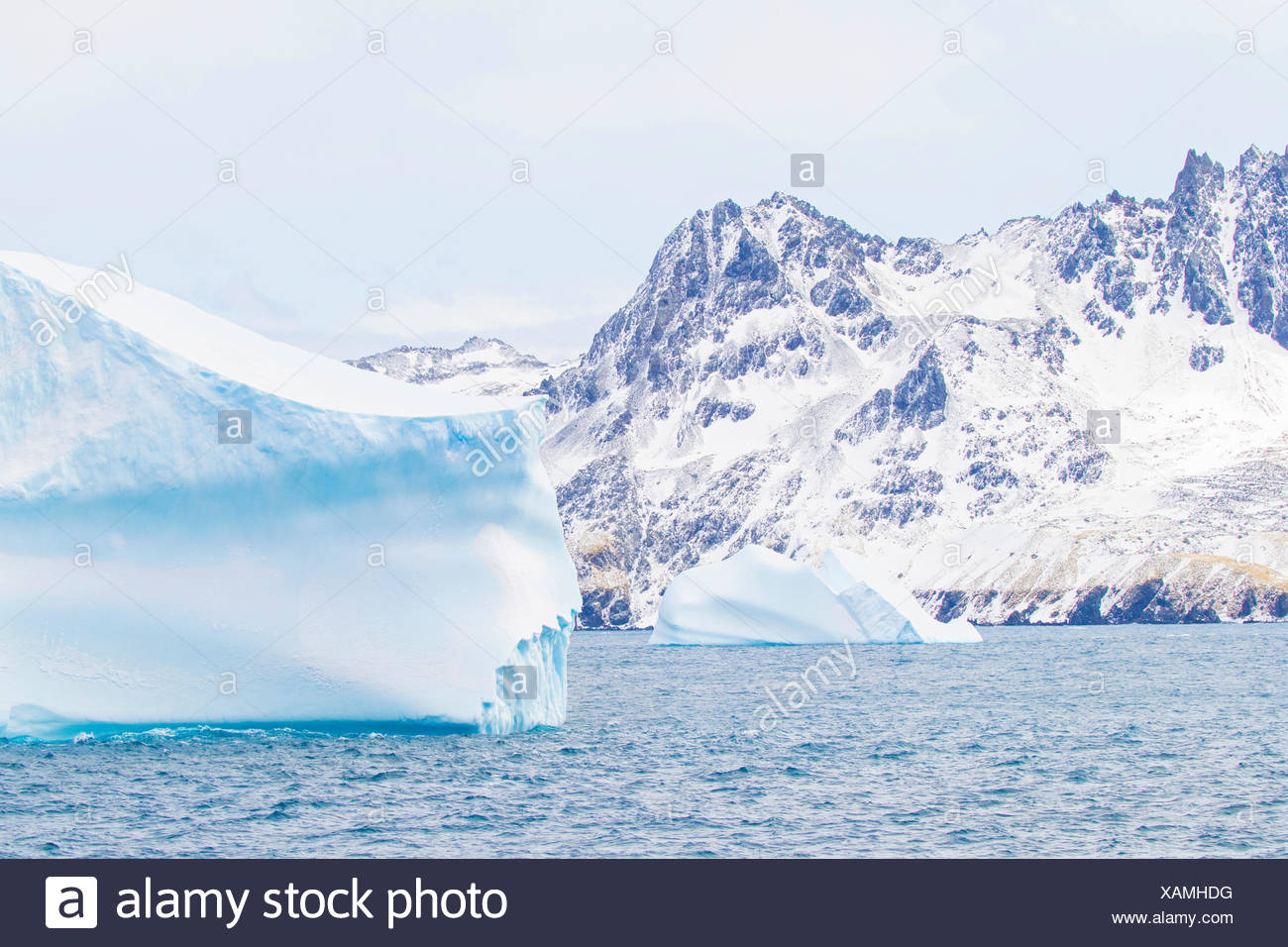 Icebergs in the South Georgia and the South Sandwich Islands Stock Photo