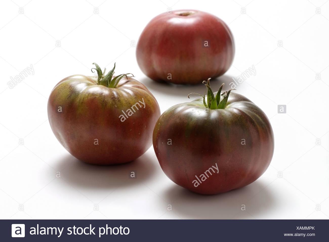 Tomato varieties: Black Prince - Stock Image