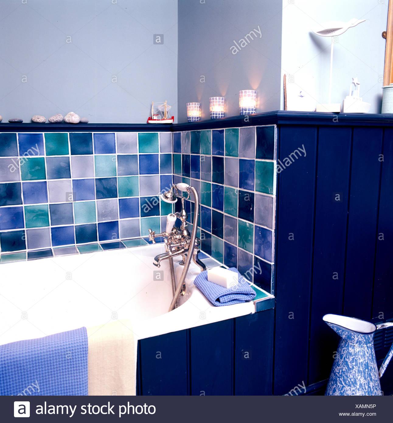 Interiors Bathroom Bath Tiling Stock Photos & Interiors Bathroom ...