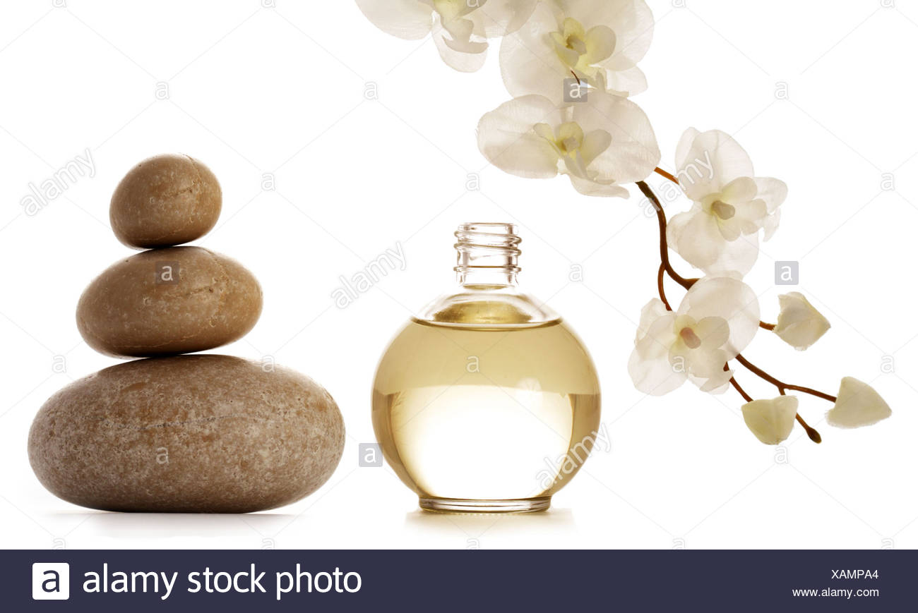 wellness,relax,scent,perfume,stone pile - Stock Image