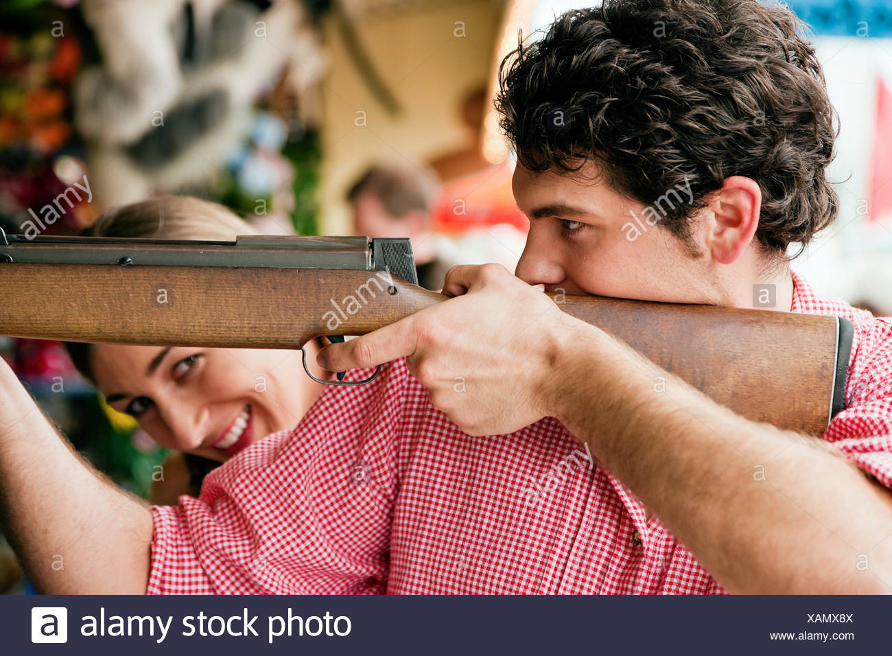 fuss rifle arm - Stock Image