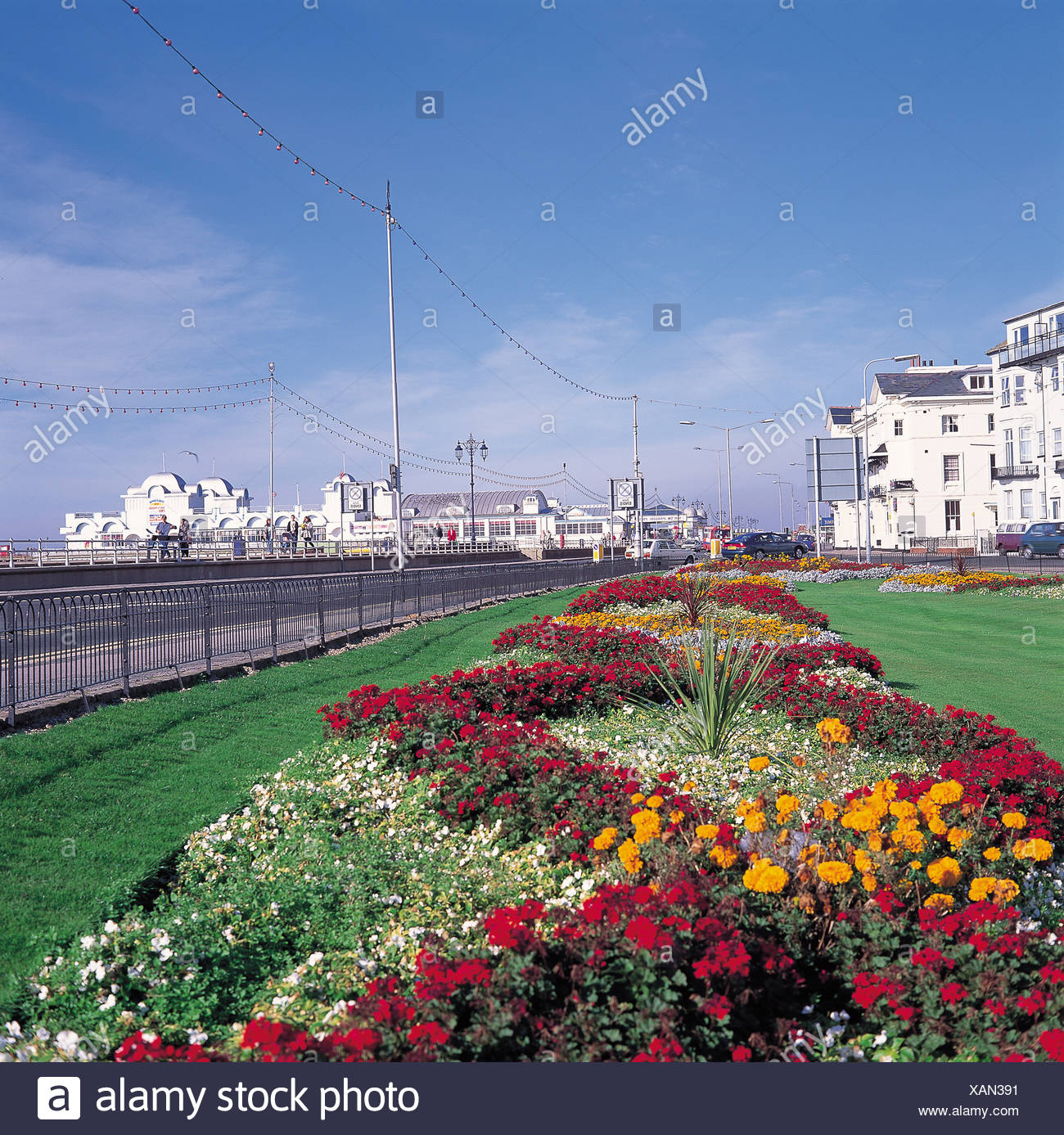 Southsea Seafront Stock Photo