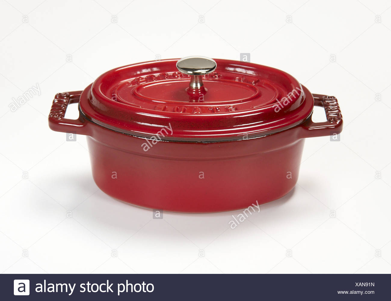 Cooking pot, lid, - Stock Image