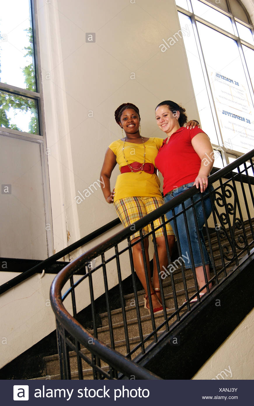 Mentoring program at Harding High School in Bridgeport CT helps seniors move on to college. Stock Photo