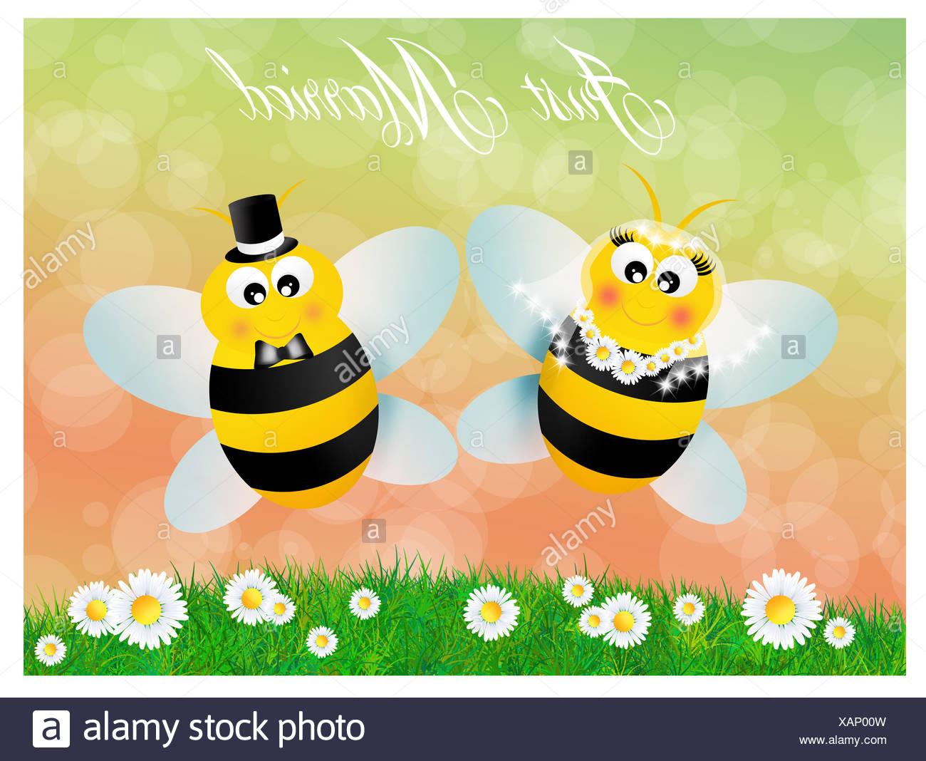 Wedding bees Stock Photo - Alamy