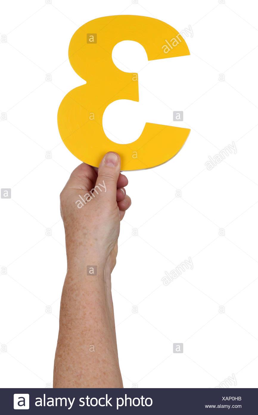 Hand halten Zahl 3 - Stock Image
