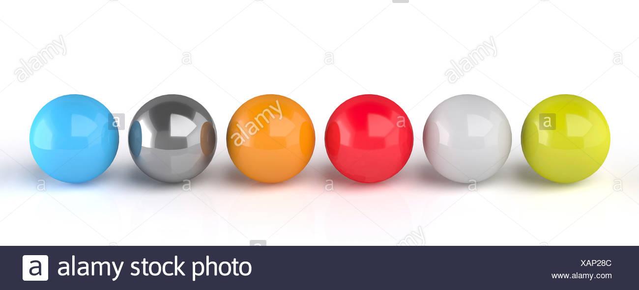 Spheres, artwork - Stock Image