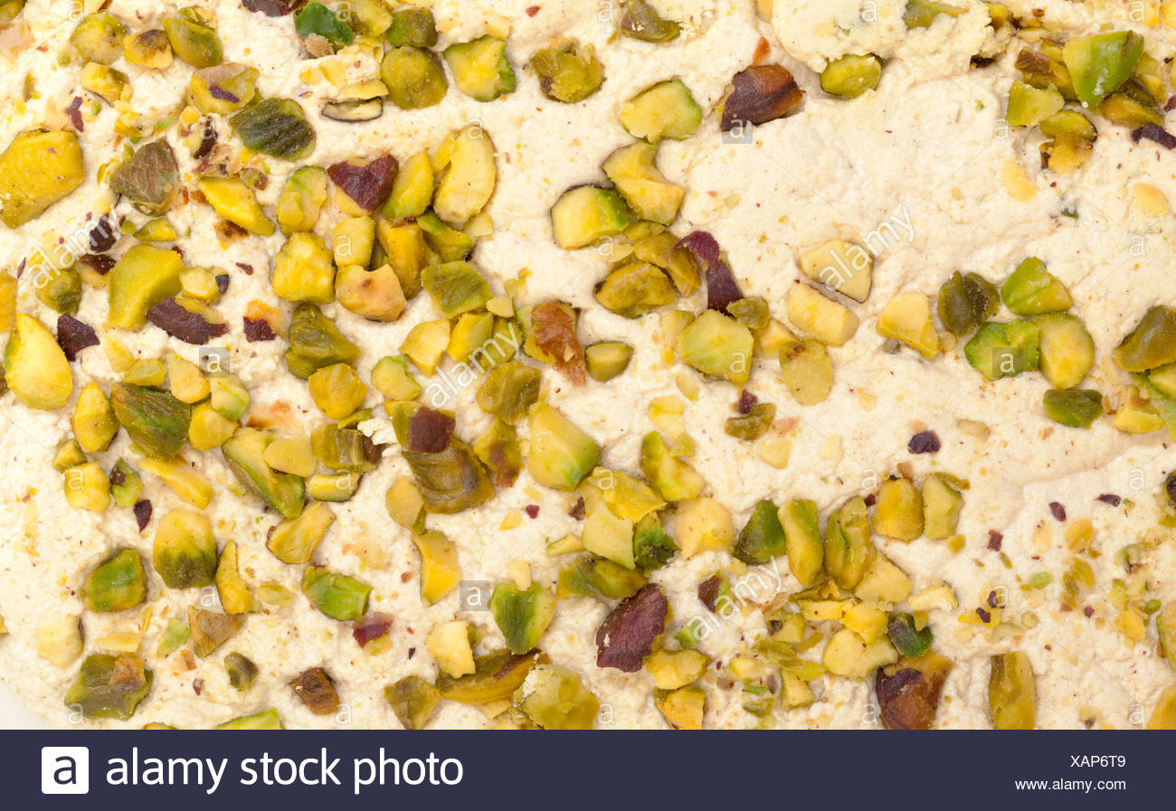 Halva with pistachios - Stock Image