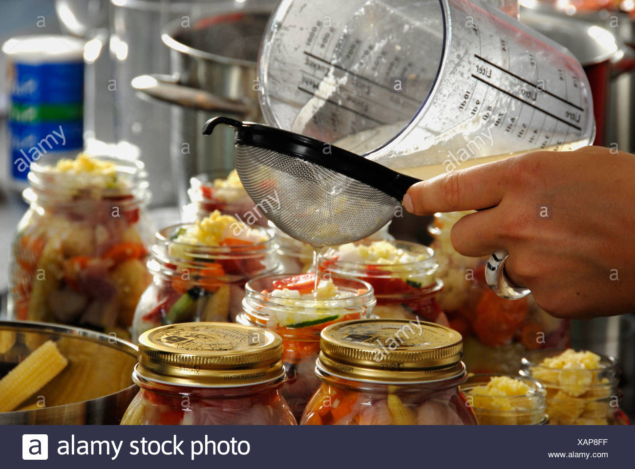 Preservation, vegetables, preserving, long-lasting, durable, food, eating, cook, tradition - Stock Image