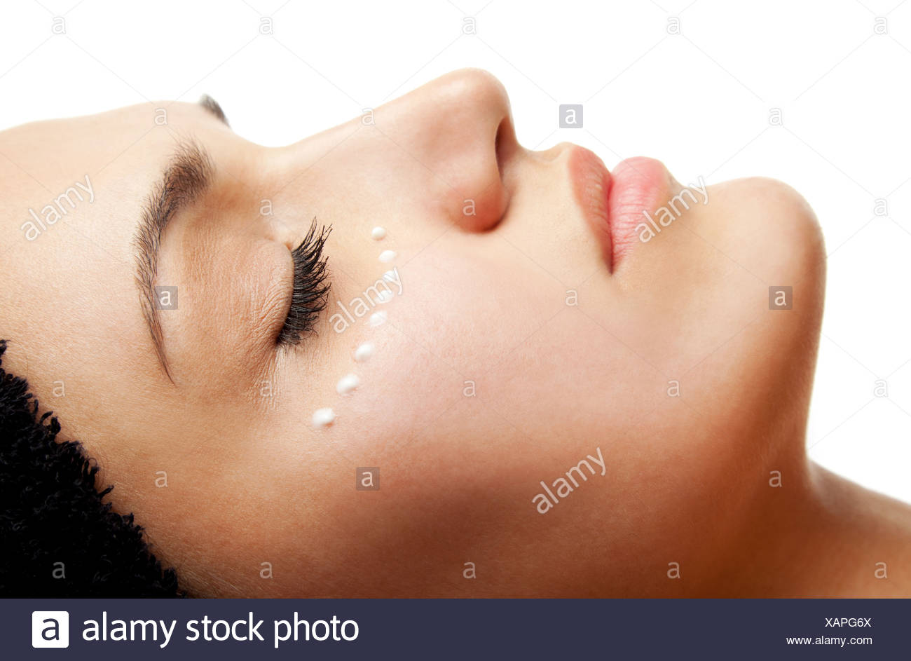 eye cream treatment - Stock Image