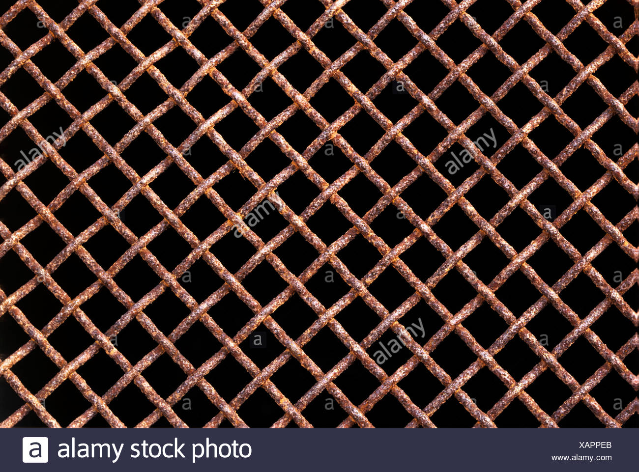Rusted fence - Stock Image
