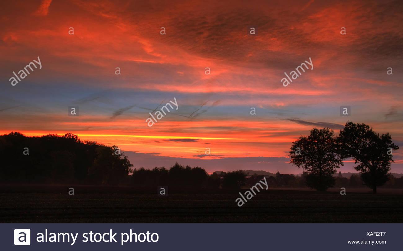 Sunrise in autumn #1 Stock Photo