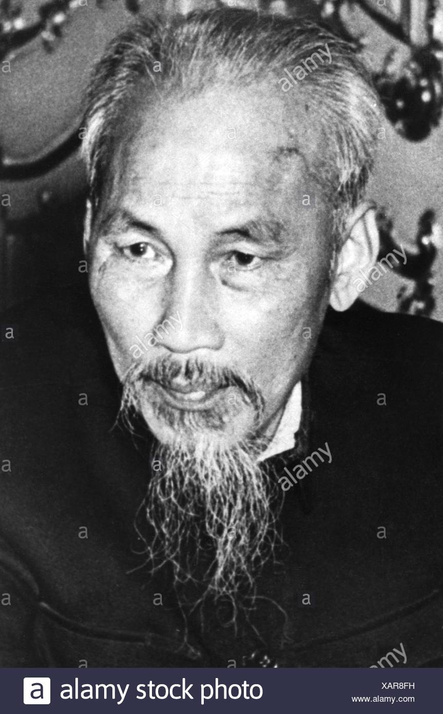 Ho Chi Minh, 15.5.1890 - 3.9. 1969, Vietnamese politician, President of North Vietnam 1955 - 1969, portrait, 1953, Additional-Rights-Clearances-NA - Stock Image
