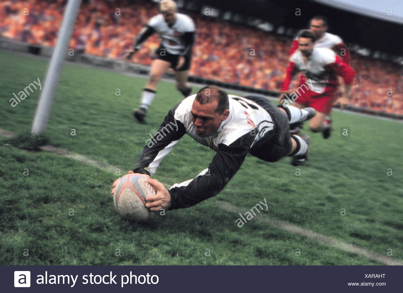 Rugby try - Stock Image