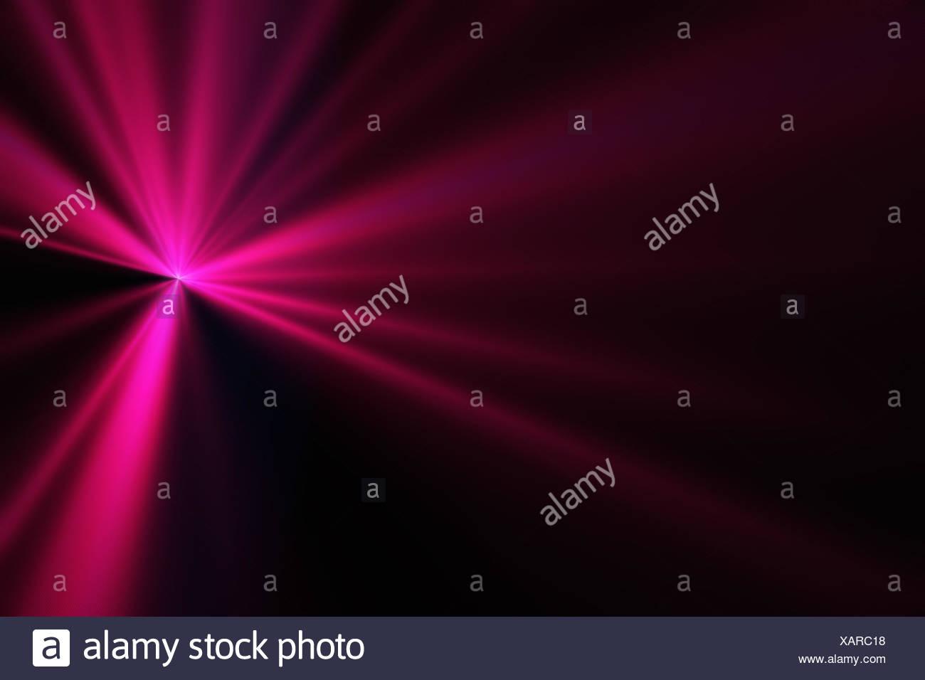 magenta beams - Stock Image