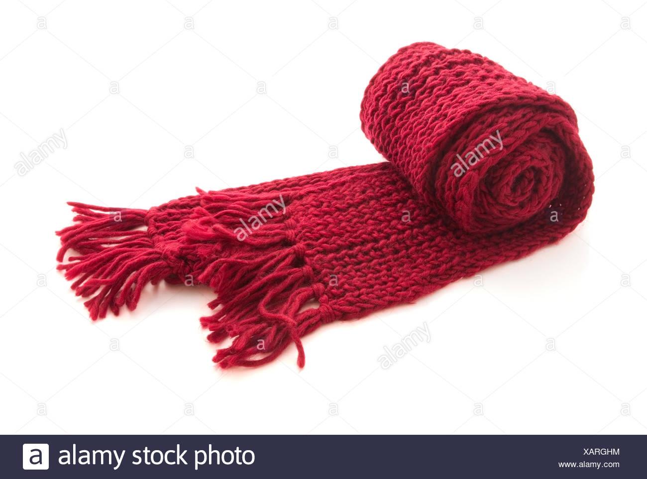 Wool knitted scarf - Stock Image