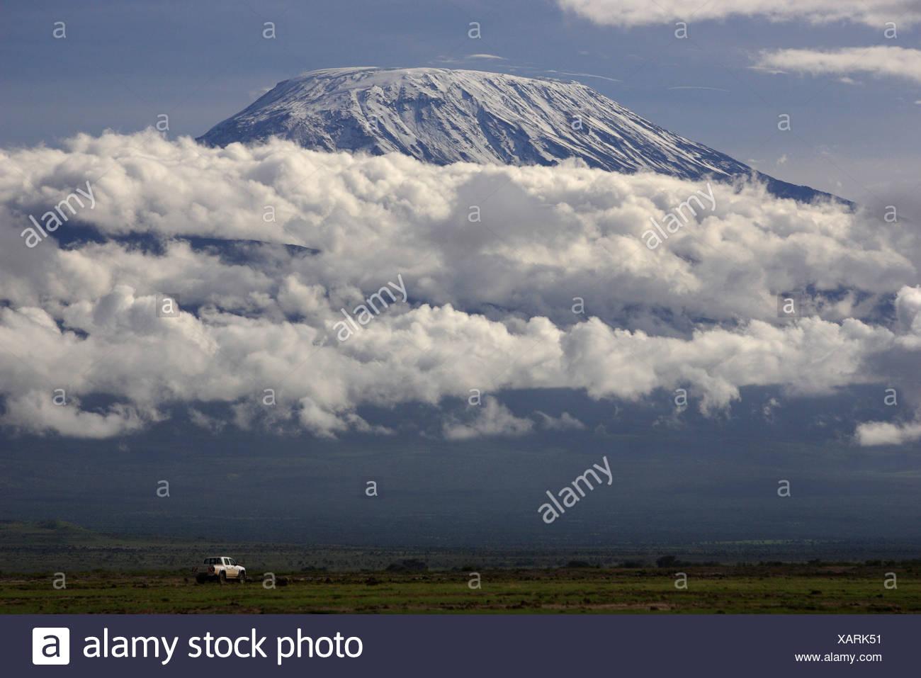MOUNT KILIMANJARO. Amboseli NP. Kenya - Stock Image