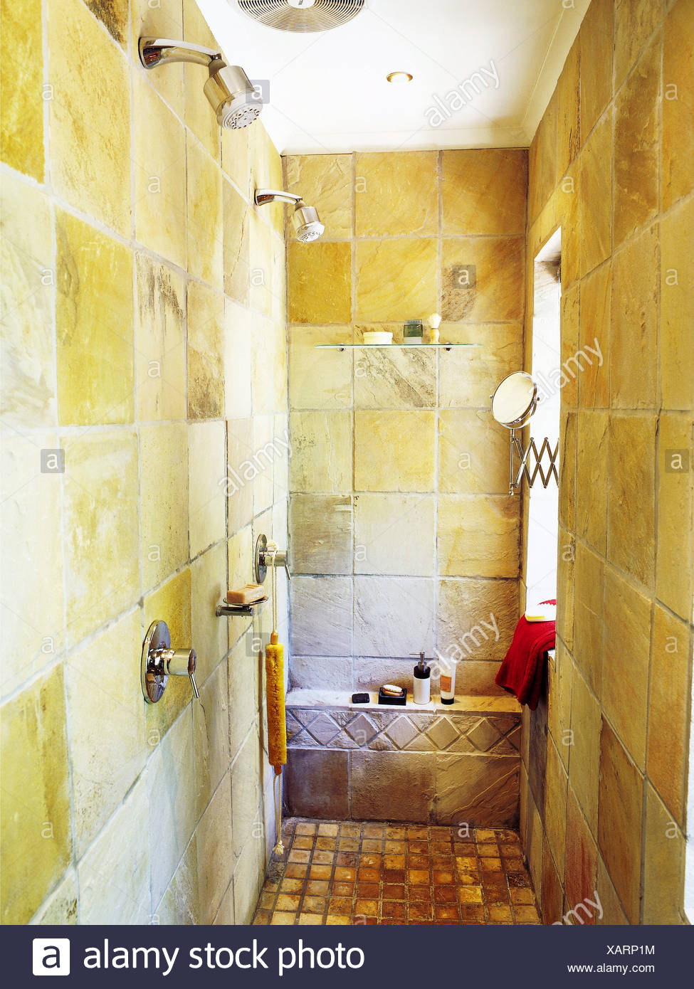 Home Ideas: Open Plan Bathrooms Detail of large shower twin shower ...