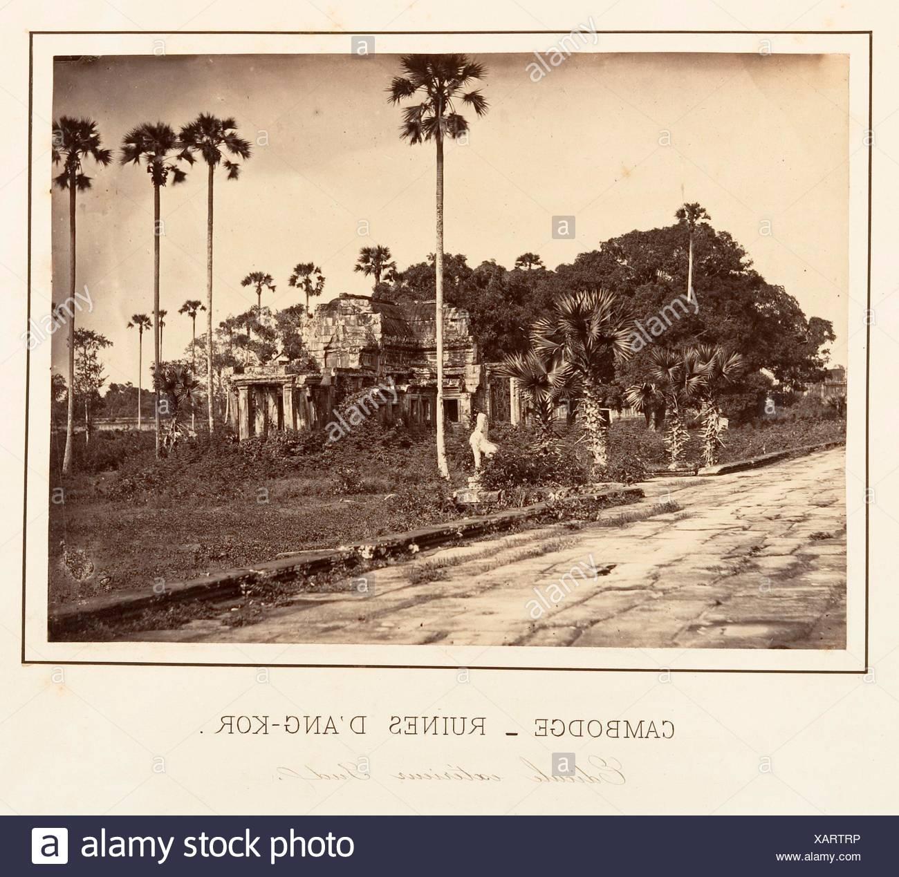 Edicule extérieur Sud. Artist: Emile Gsell (French, Sainte-Marie-aux-Mines 1838-1879 Vietnam); Date: 1866; Medium: Albumen silver print from glass - Stock Image