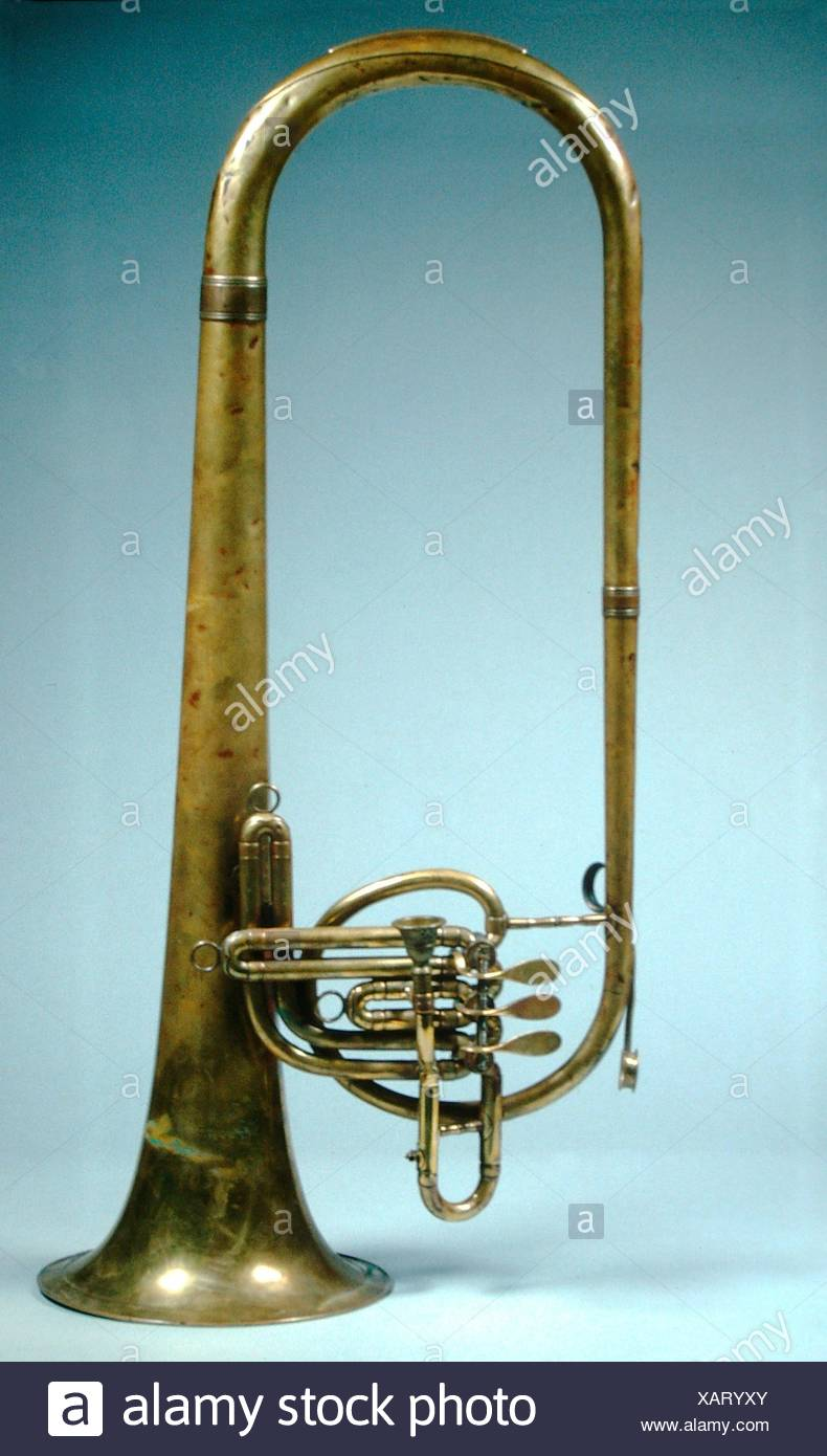 Baritone horn in B-flat. Maker: Henry G. Lehnert (German, Freiberg 1838-1916 Philadelphia); Date: after 1875; Geography: Philadelphia, Pennsylvania, - Stock Image