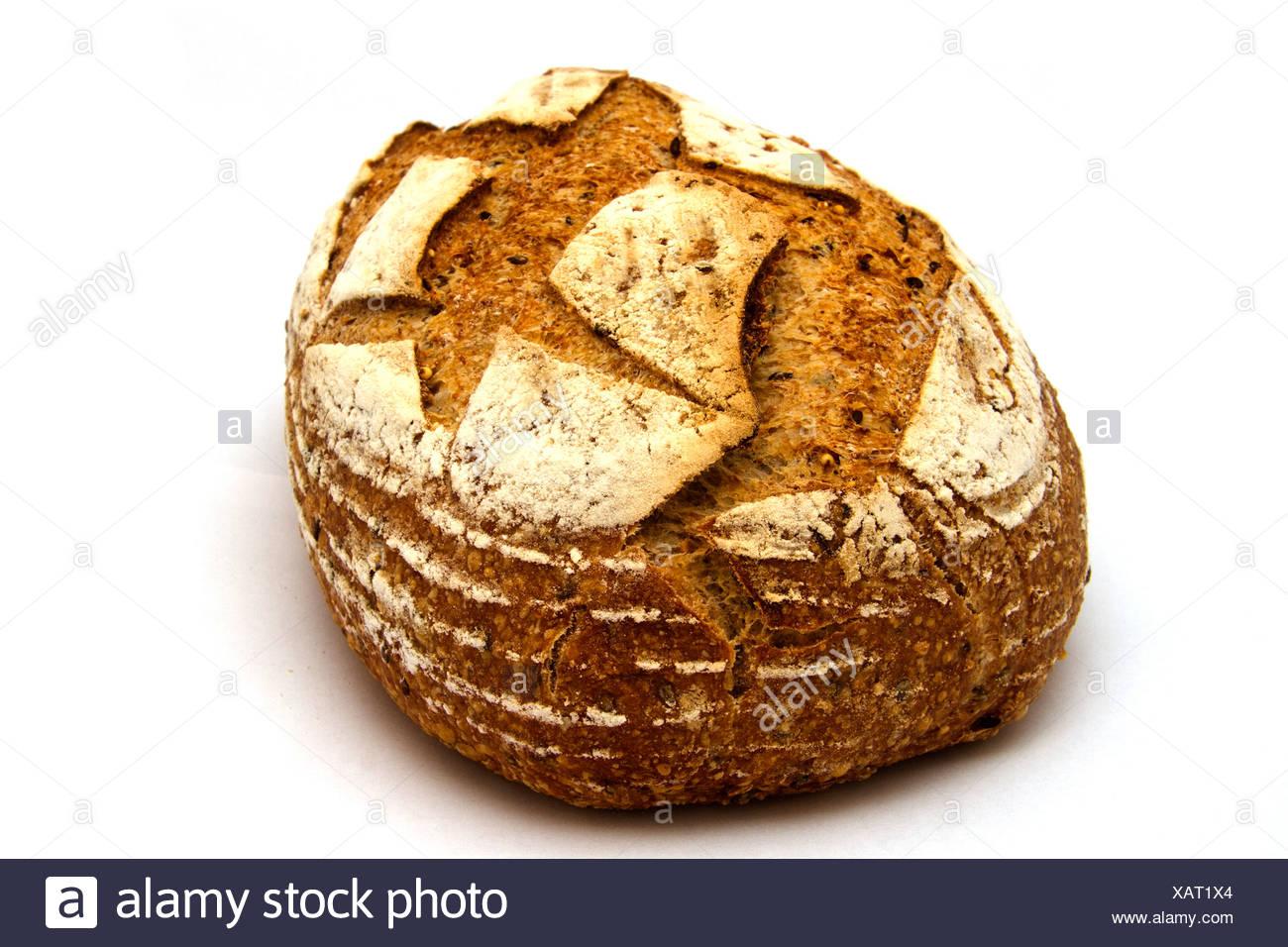 Rustic Multigrain Loaf Stock Photo