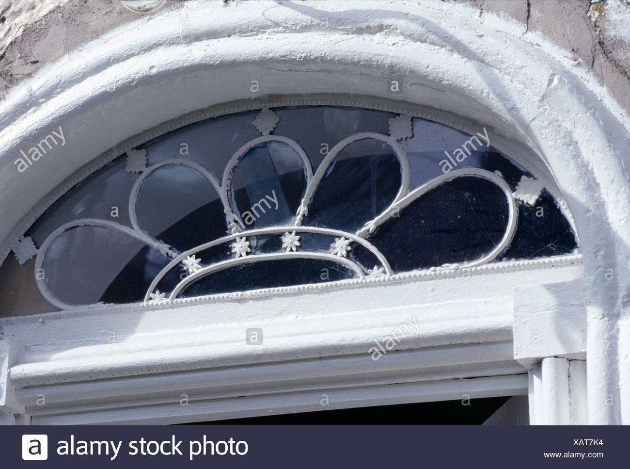 Half Moon Window Above Entrance Stock Photo Alamy