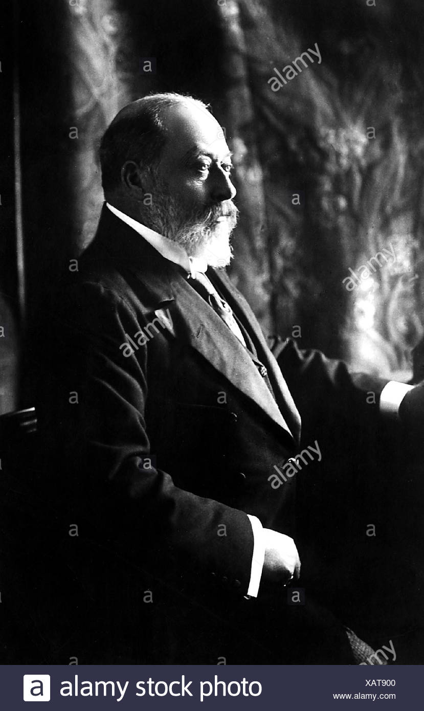 Edward VII, 9.11.1841 - 6.5.1910, King of Great Britian 22.1.1901 - 6.5.1910, half length, circa 1808, , Additional-Rights-Clearances-NA - Stock Image