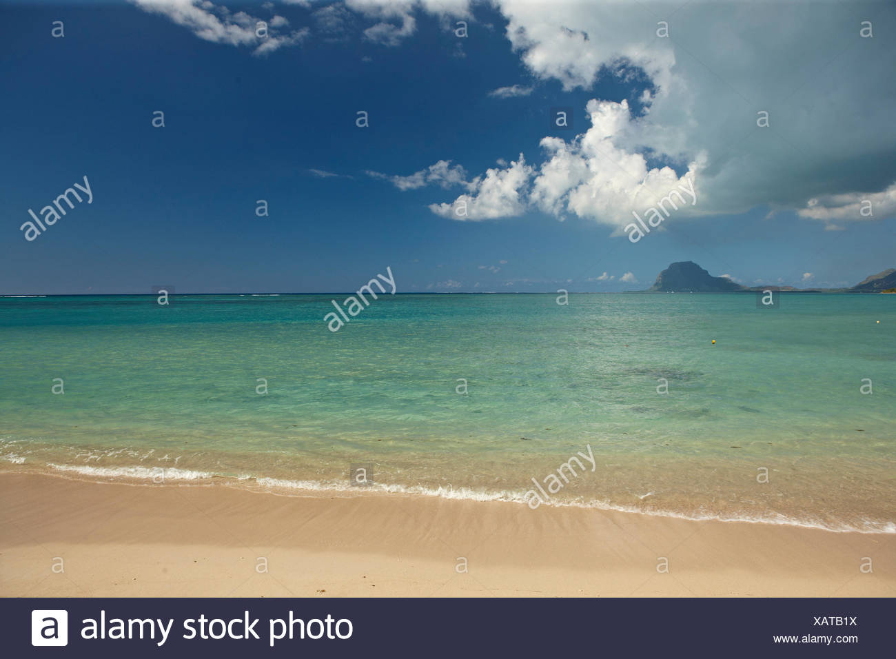 Beach, Tamarin, Mauritius Stock Photo