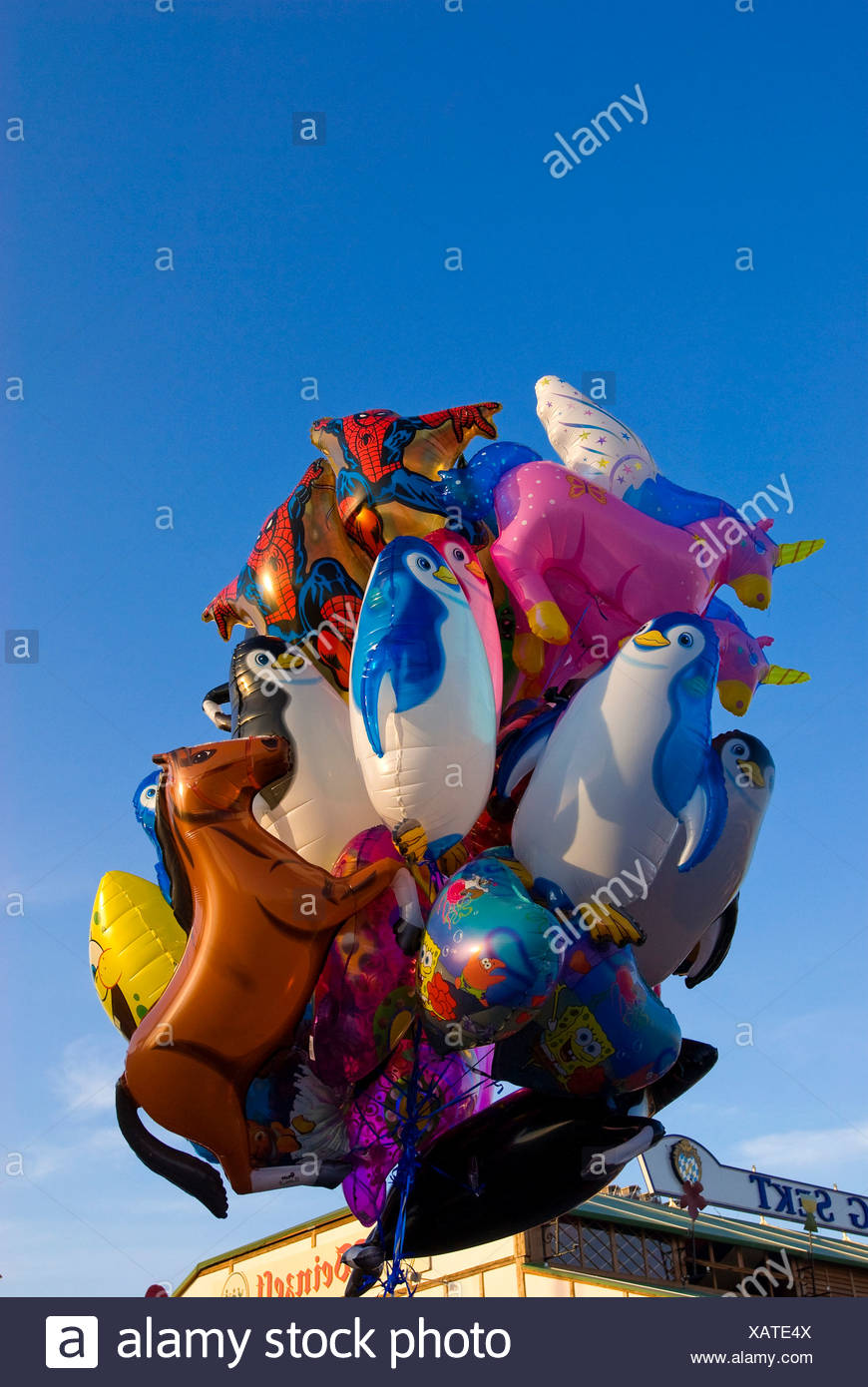 Balloons, Octoberfest, Munich, Bavaria, Germany - Stock Image