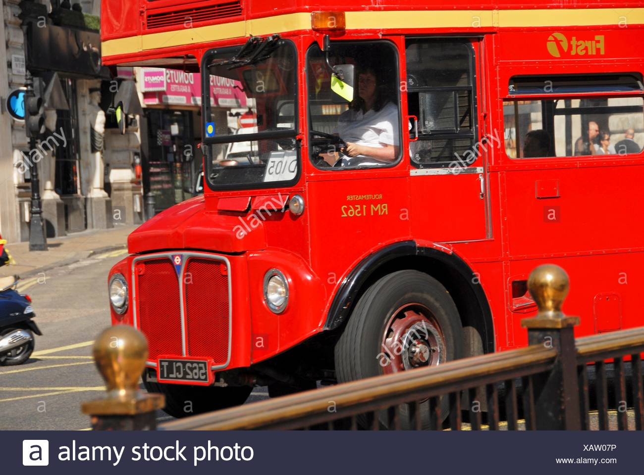 An old AEC bus still running. London, England, Great Britain, Europe. - Stock Image