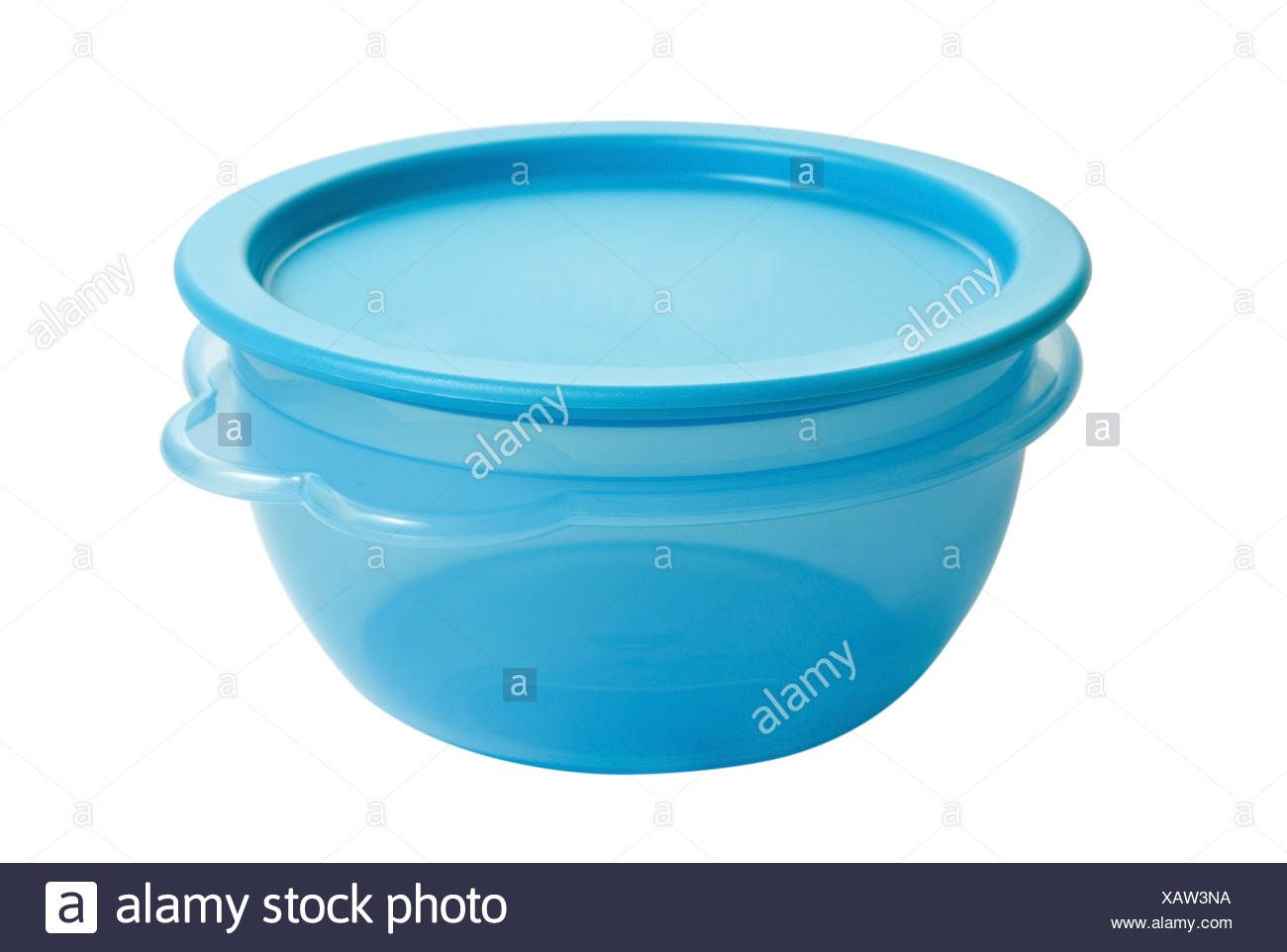 Plastic Food Container Like Tupperware Isolated On White Background