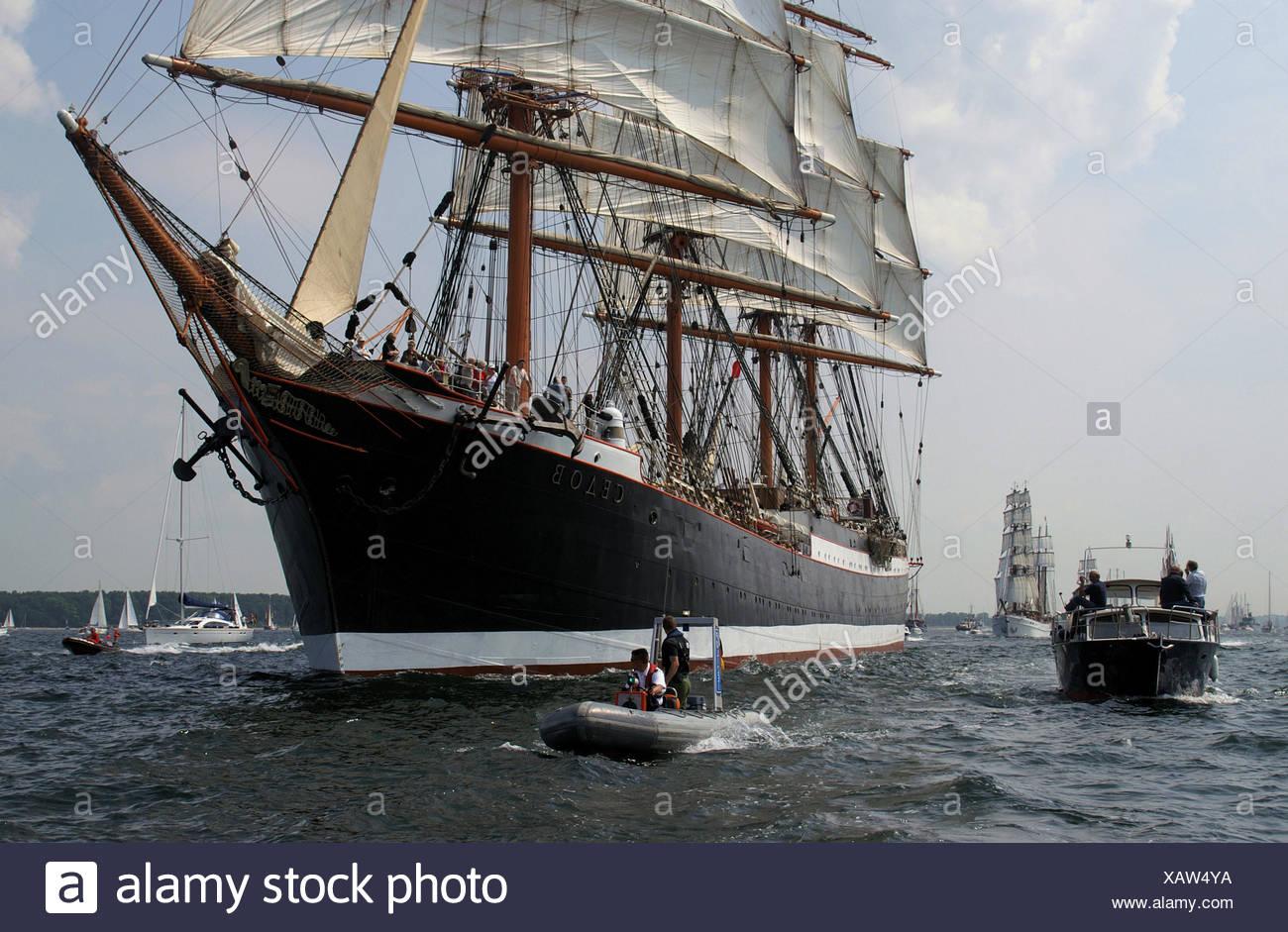 sail keel Northern Germany kieler hafen kieler frde kieler woche windjammer Stock Photo