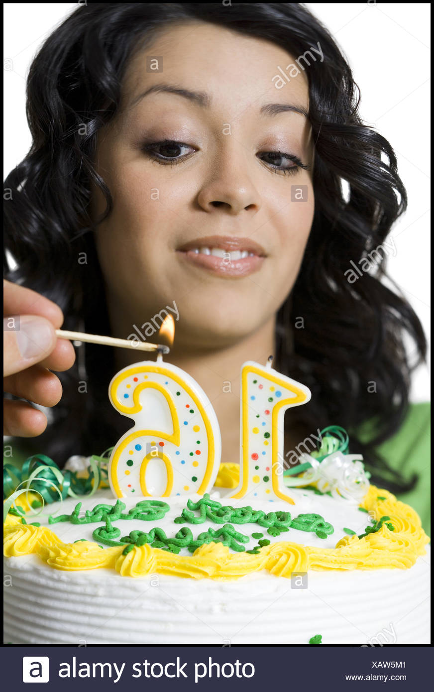 Excellent Close Up Of A Teenage Girl Looking At A Person Lighting Candles On Funny Birthday Cards Online Sheoxdamsfinfo
