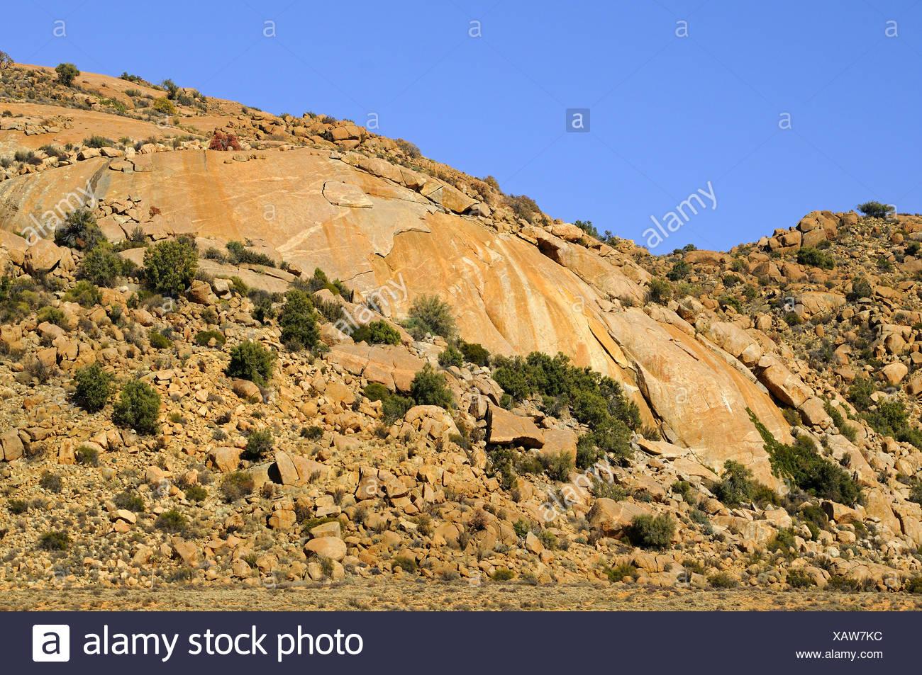 monolithic Granite dome, Goegap, South Africa Stock Photo