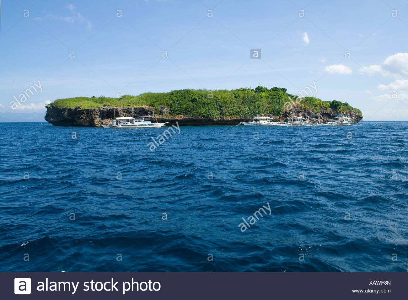 Pescador Island, well-known dive site and marine park, Moalboal, Cebu, Philippines, Indo-Pacific region, Asia - Stock Image