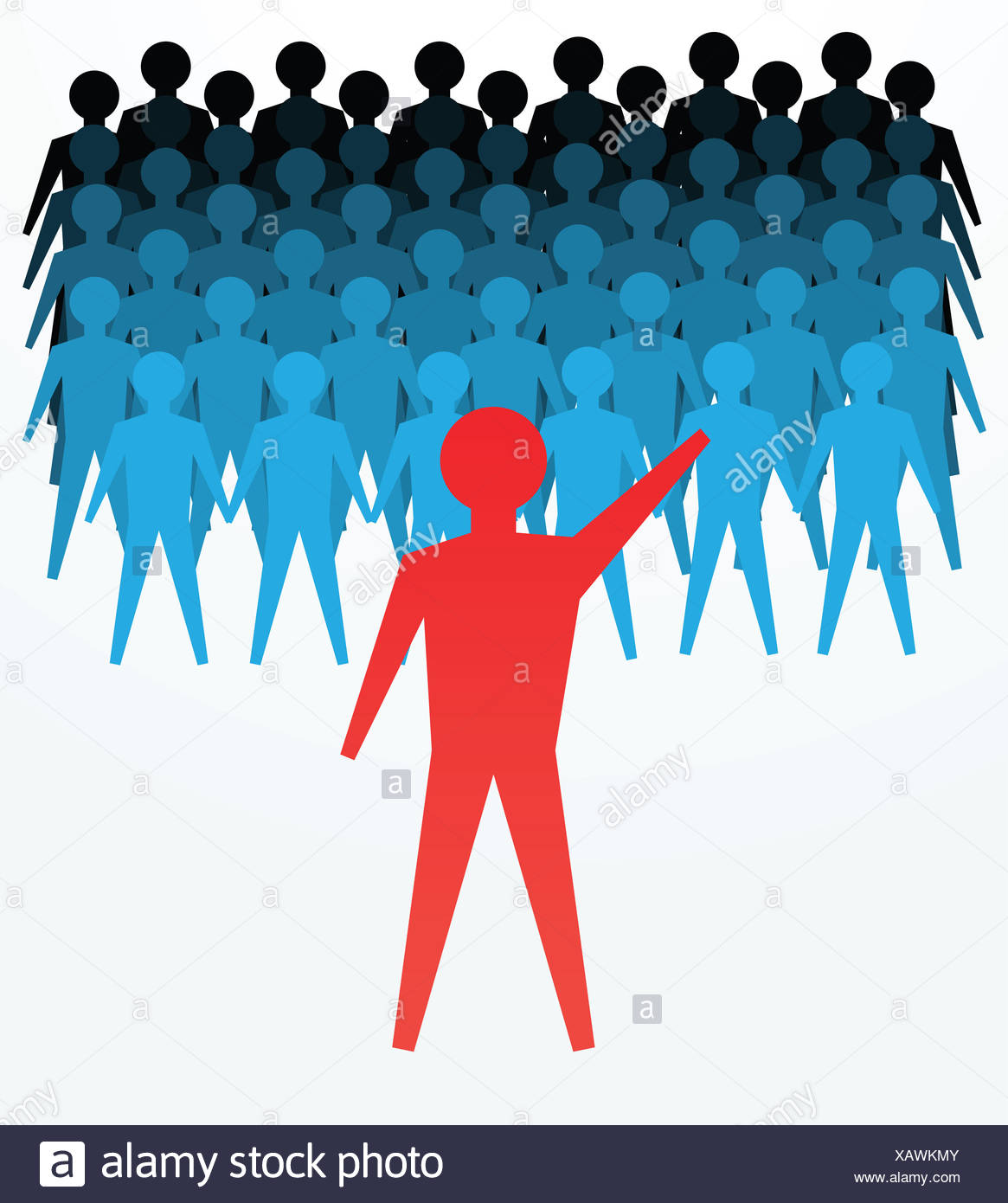 concepts of leadership - Stock Image