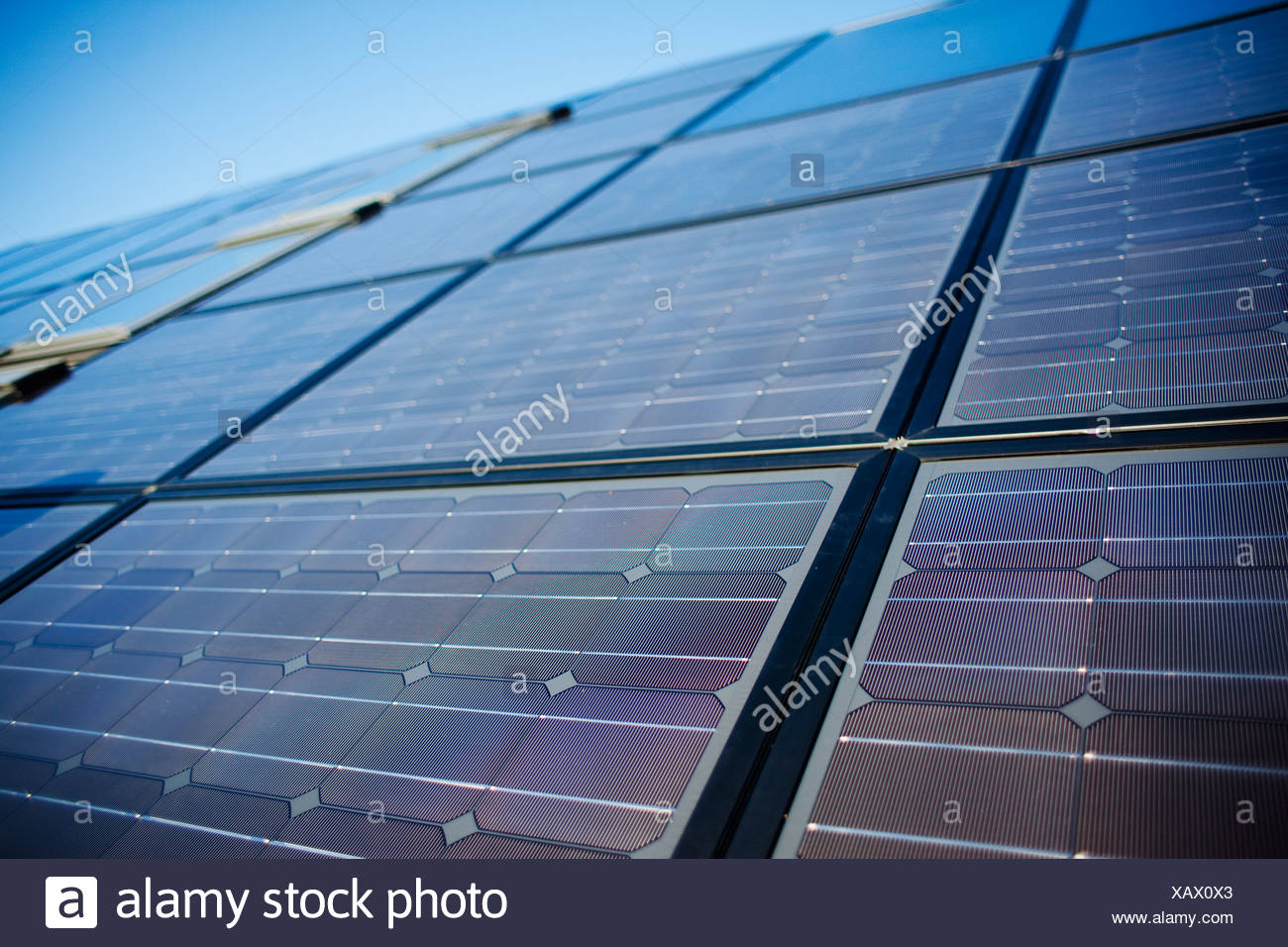 Close-up of large solar panel - Stock Image