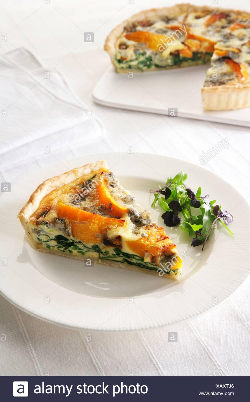 squash and gorgonzola slice - Stock Image