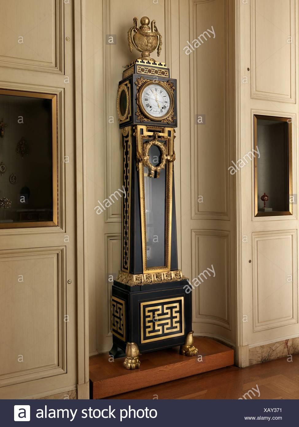 Longcase astronomical regulator. Maker: Clockmaker: Ferdinand Berthoud (French, 1727-1807); Maker: Case maker: Balthazar Lieutaud (French, ca. - Stock Image