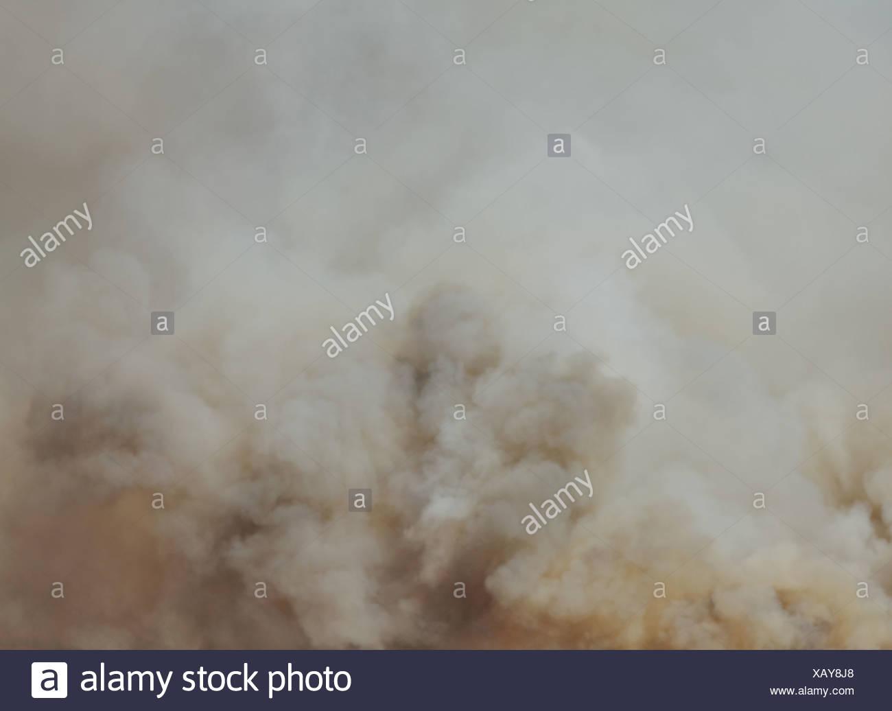 Washington state USA large forest fire Ellensburg Kittitas county - Stock Image