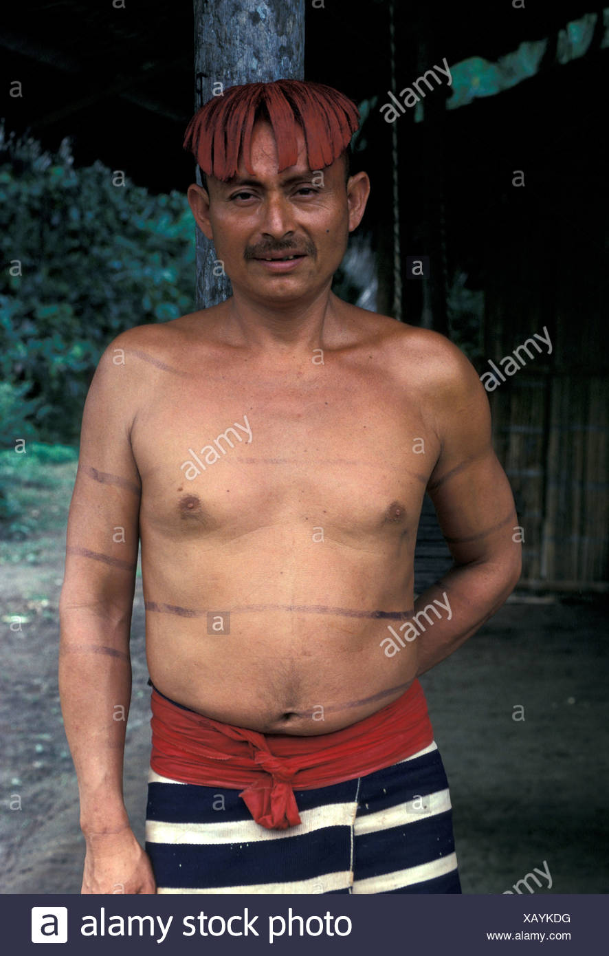 Humans Sth America Colorado Indian Man Ecuador - Stock Image