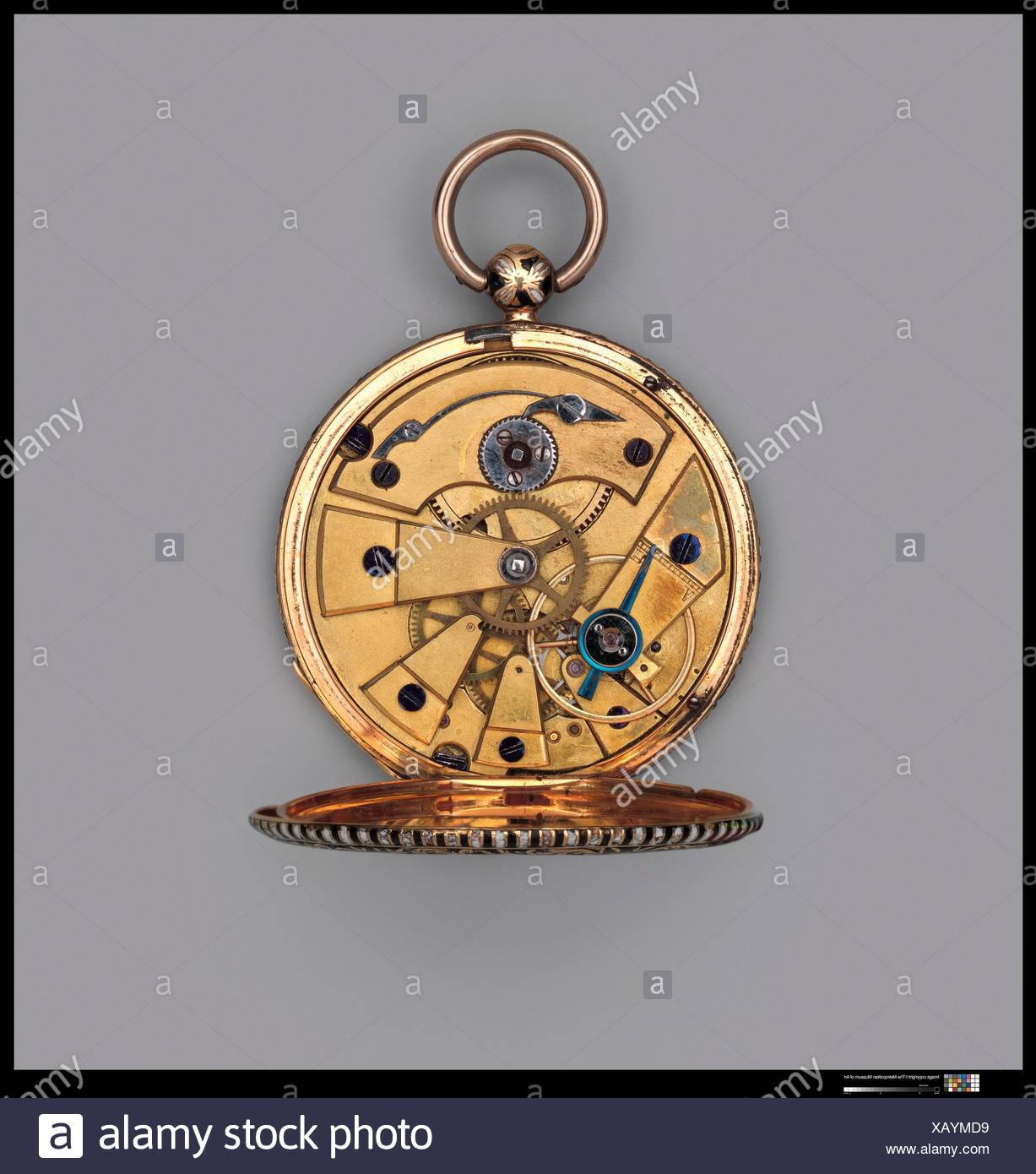 Watch. Maker: Watchmaker: Jacques Lépine (1814-1825); Date: 19th century; Culture: French, Paris; Medium: Gold; Dimensions: Diam. 1-5/8 in. (4.1 cm); - Stock Image