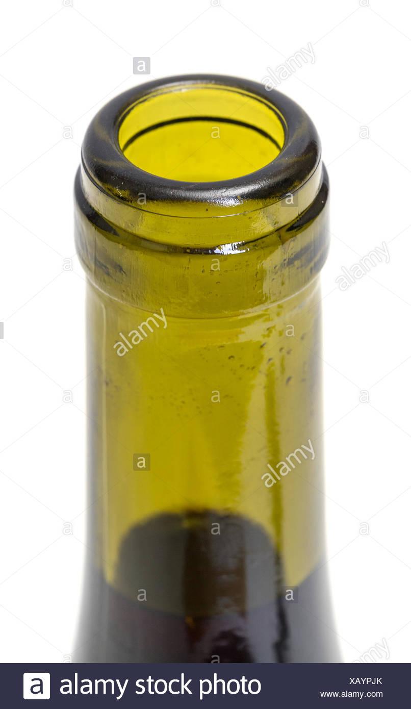 Opened Wine Bottleneck - Stock Image
