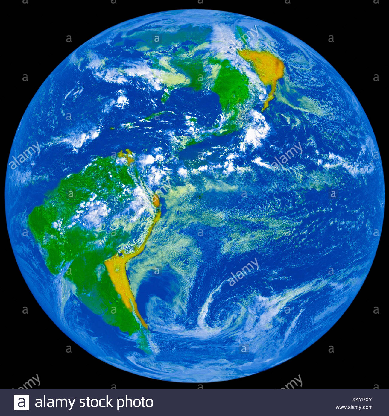 Earth from GOES - Stock Image