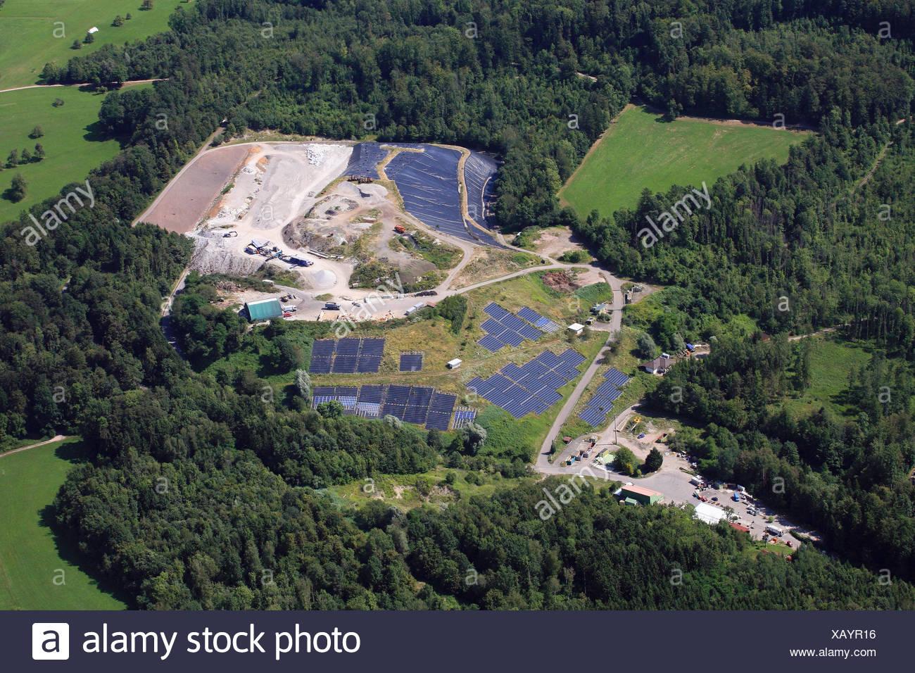 Typically sanitary landfill Lachengraben - Stock Image