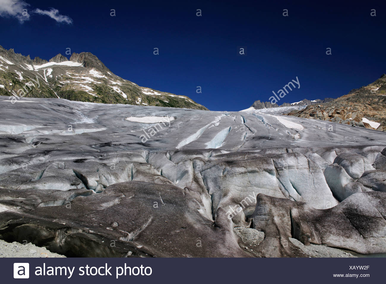 Rhone Glacier, Canton of Valais, Switzerland, Europe Stock Photo